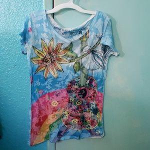 Rainbow Hippie T Shirt